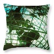 Steel Globe At The Trump International Throw Pillow