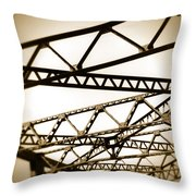 Steel Lines Throw Pillow