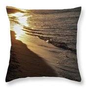 Steel Mill Sunset Throw Pillow