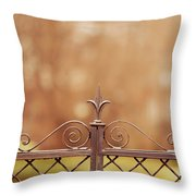 Steel Ornamented Fence Throw Pillow