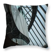 Steel Ribs Throw Pillow