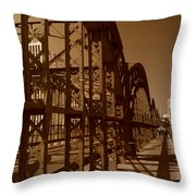 Steel Shadows Throw Pillow