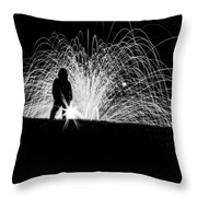 Steel Silhouette  Throw Pillow