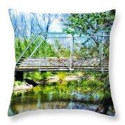 Steel Span Bridge Gettysburg Throw Pillow
