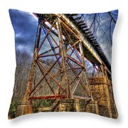 Steel Strong Rr Bridge Over The Yellow River Throw Pillow