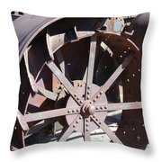 Steel Tractor Throw Pillow