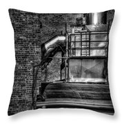 Steel Vents Throw Pillow