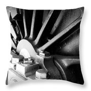 Steel Wheel. Throw Pillow