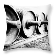 Steel Wheels Throw Pillow