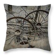 Steel Wheels Throw Pillow