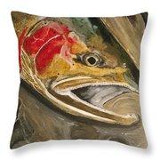 Steelhead Buck Throw Pillow