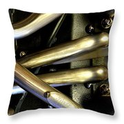 Steely Arms Throw Pillow