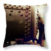 Steely Tracks Throw Pillow