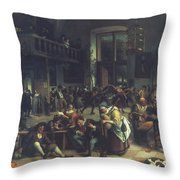 Steen: Merrymaking, 1674 Throw Pillow