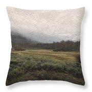 Steens Mountain Landscape - No. 2 Throw Pillow