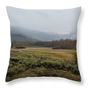 Steens Mountain Landscape - No 2a Throw Pillow