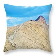 Steep Trail To Manly Beacon From Golden Canyon In Death Valley National Park-california  Throw Pillow