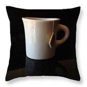 Steeping Mug Throw Pillow