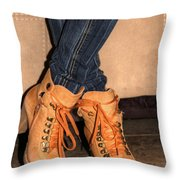 Steeping Out In Style Throw Pillow
