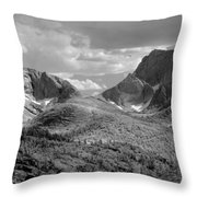 109629-bw-steeple And Temple Peaks, Wind Rivers Throw Pillow