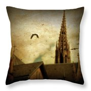 Steeple Crows Throw Pillow