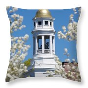 Steeple With Clock Throw Pillow