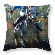 Steeplechase Throw Pillow