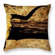 Steer Mount Throw Pillow