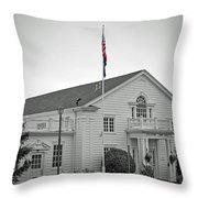Steilacoom Town Hall Throw Pillow