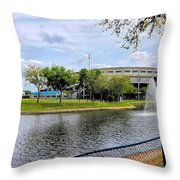 Steinbrenner Field Lake 2 Throw Pillow