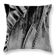 Steinway Black And White Inners Throw Pillow