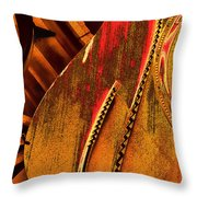 Steinway Piano Golden Inners Throw Pillow