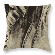 Steinway Piano Inners Throw Pillow