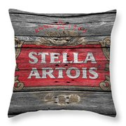 Stella Artois Throw Pillow