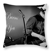Stella Burns Loves You Throw Pillow