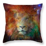 Stellar Lion Throw Pillow