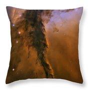 Stellar Spire In The Eagle Nebula Throw Pillow