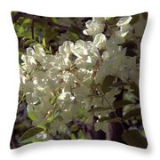 Stem Of Locust Flowers Throw Pillow