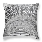 Stencil Up Lighthouse Stairs Throw Pillow