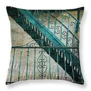 Step By Step - Into The Past Throw Pillow