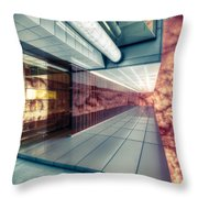 Step Carefully On The Balcony Throw Pillow