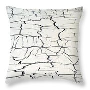 Step On A Crack Throw Pillow