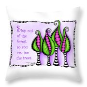 Step Out Of The Forest Throw Pillow