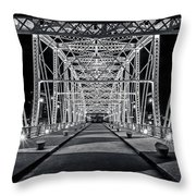 Step Under The Steel Throw Pillow