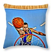Steph Curry Throw Pillow by Florian Rodarte