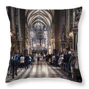 Stephansdom Austria Throw Pillow