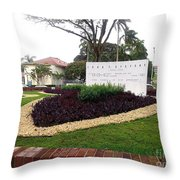 Stephen Circle Gardens 1 Throw Pillow