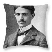 Stephen Crane (1871-1900) Throw Pillow