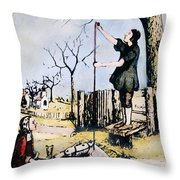 Stephen Hales (1677-1761) Throw Pillow