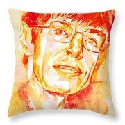 Stephen Hawking Portrait Throw Pillow